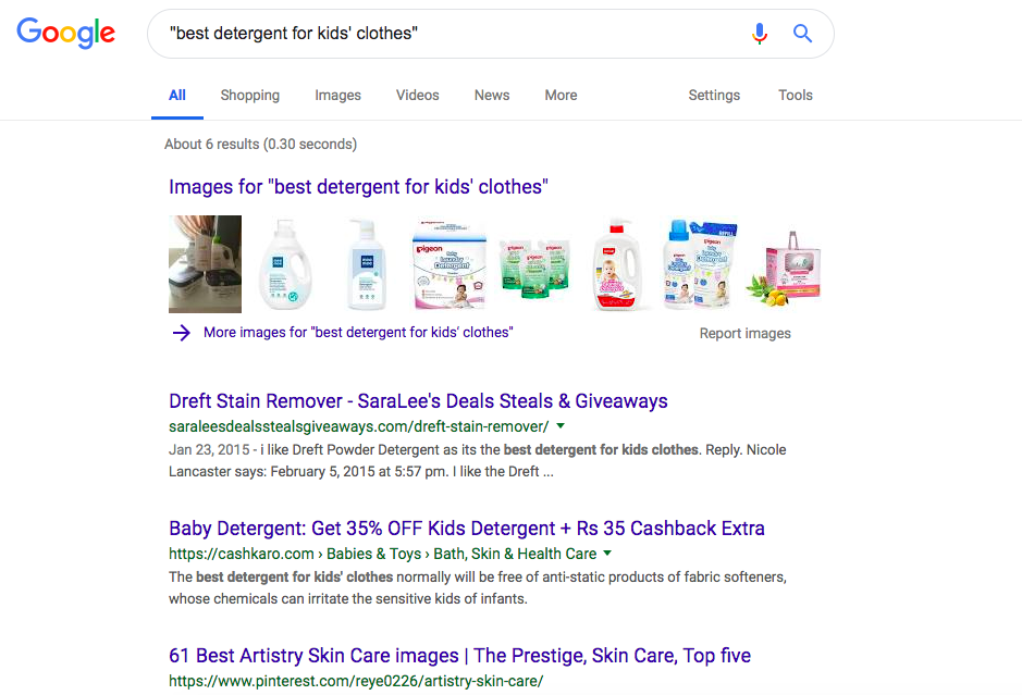 Best Detergent for Kids Clothes - Google's Perception of